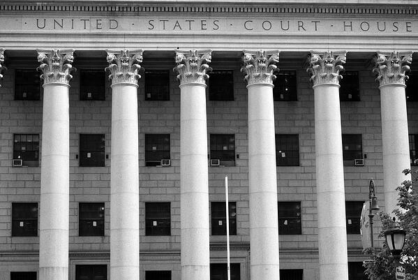 An United States Court House in New York City.